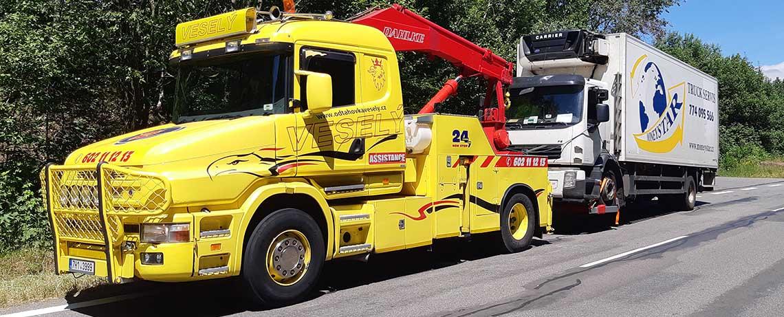 Odtah nákladních vozů